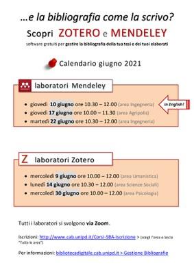 Locandina con le date dei laboratori