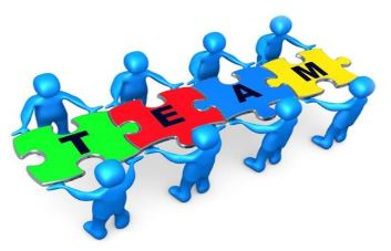 Puzzle con scritta team